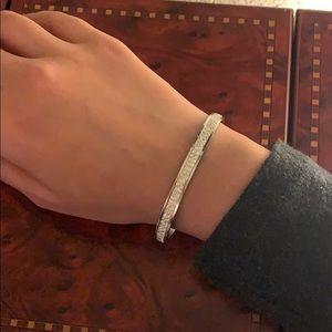 Jewelry - Small silver bracelets with Swarovski diamonds
